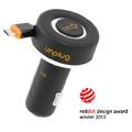【Unplug法國工藝】可收納皮革車充-MicroUSB接頭 (1A MICRO)