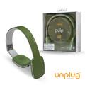 【Unplug法國工藝】Pulp觸控可折耳罩式藍芽4.0耳機-軍綠 (PULP-GREEN)