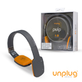 【Unplug法國工藝】Pulp觸控可折耳罩式藍芽4.0耳機-深灰 (PULP-DARKGRAY)
