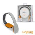 【Unplug法國工藝】Pulp觸控可折耳罩式藍芽4.0耳機-淺灰 (PULP-LIGHTGRAY)
