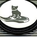 【設計點】CACHE-CACHE-法國鬥牛犬系列9吋餐盤-TheGreedy貪吃鬼(E00500101)