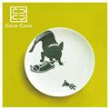 【設計點】CACHE-CACHE-法國鬥牛犬系列9吋餐盤-TheNaughty調皮蛋(E00500102)