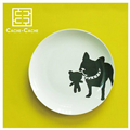 【設計點】CACHE-CACHE-法國鬥牛犬系列9吋餐盤-TheCuddly撒嬌鬼(E00500103)