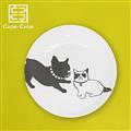 【設計點】CACHE-CACHE-法國鬥牛犬系列9吋餐盤-ThePerfectMatch天生絕配(E00500106)