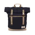 【設計點】Koper-不平帆-復古雙釦帆布後背包(煙燻黑) (E02000201)