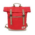 【設計點】Koper-不平帆-復古雙釦帆布後背包(甜蜜紅) (E02000202)