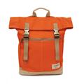【設計點】Koper-不平帆-復古雙釦帆布後背包(焦糖橘) (E02000203)