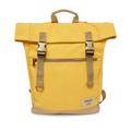 【設計點】Koper-不平帆-復古雙釦帆布後背包(陽光黃) (E02000204)
