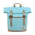 【設計點】Koper-不平帆-復古雙釦帆布後背包(薄荷藍) (E02000205)