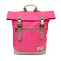 【設計點】Koper-不平帆-復古雙釦帆布後背包(桃氣紅) (E02000206)