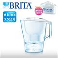 【德國BRITA】愛奴娜型濾水壺-Aluna XL(3.5公升)-白色(內含濾芯1入) (ALUNAXL35)