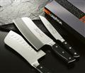 金門【金永利鋼刀】新式氣孔切刀+水果刀家用雙刀組 (F3)
