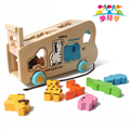 【樂兒學】可愛動物遊園車單字益智木製學習積木 (MT0437)