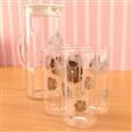【Artist】安琪冷熱兩用耐熱玻璃水杯組(水壺1200ml+水杯350ml*4) (MF0363)