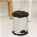 【ikloo宜酷屋】不鏽鋼腳踏垃圾桶-5L(台灣製造) (PB03C)