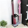 【ikloo宜酷屋】日式簡約傘架-方型4格鐵板(2色可選) (RSF08)