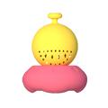 設計小人 【小人愛找茶】幽浮泡茶器(桃黃) (4712826511429)