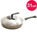 【清水】星鑽陶瓷不沾平煎鍋(有蓋)31CM (MF0300S)