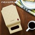【recolte 日本麗克特】Quilt 格子三明治機-奶油黃 (RPS-BE)