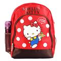 【Hello Kitty】雙層透氣書包-紅色 (ML0244)