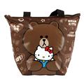 【Hello Kitty+LINE】熊大餃型手提袋/便當袋 (ML0249K)