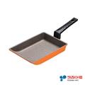 【韓國 Kitchen Art】亮麗橘鈦晶石玉子燒鍋(19cm) (AAE-E19OM)
