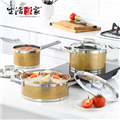 【生活采家】Debo系列時代金不鏽鋼餐廚料理三鍋組(17/21/25cm) (F05017012)