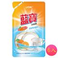LION藍寶 洗碗精(柑橙香-補充包)800mlx6入 (54874705-75)