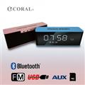 CORAL CBT-06藍芽時鐘喇叭(玫瑰金/天空藍) (CBT-06-GD/BL)