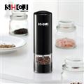 SHCJ生活采家 曜石黑日式電動胡椒岩鹽調味研磨罐 (F05050001)