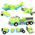 百變 自由組合磁性積木迴力車3-飛機/消防車/牽引車 (MT0466)