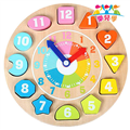 【樂兒學】可愛動物時鐘益智木製學習積木 (MT0436)