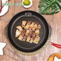 LMG長野 麥飯石 不沾兩用圓燒烤盤 燒烤 烤肉 BBQ 聚會 野炊 露營  LMG014~O