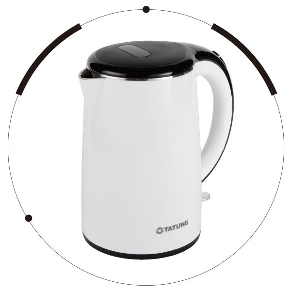 【白色系列家電】白色能量溫熱快煮暖身心【TATUNG 大同】1.7L電茶壺 (TEK-1715A)