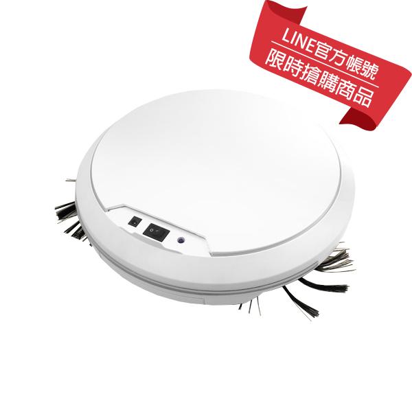 本月特惠【趴趴走】智慧型吸塵器機器人(白色) (RV1LX-W)
