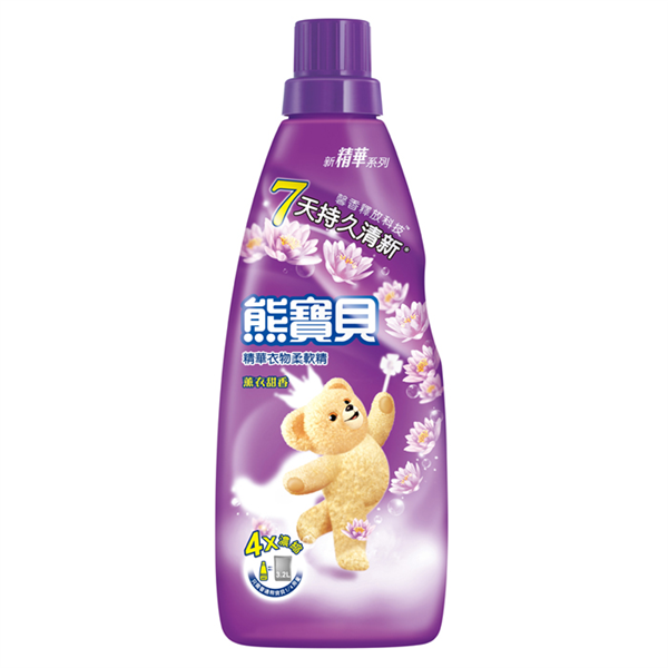【熊寶貝】精華薰衣甜香衣物柔軟精-800ml (4710094056017)