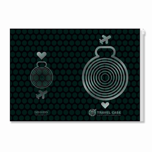 設計小人 【小人罩子放亮點】旅行筆記護照套(綠) (4712826511399)