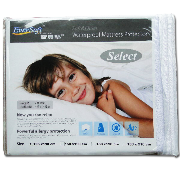 【Eversoft®寶貝墊】Select防水透氣防螨保潔墊-單人105x190cm (B00005)