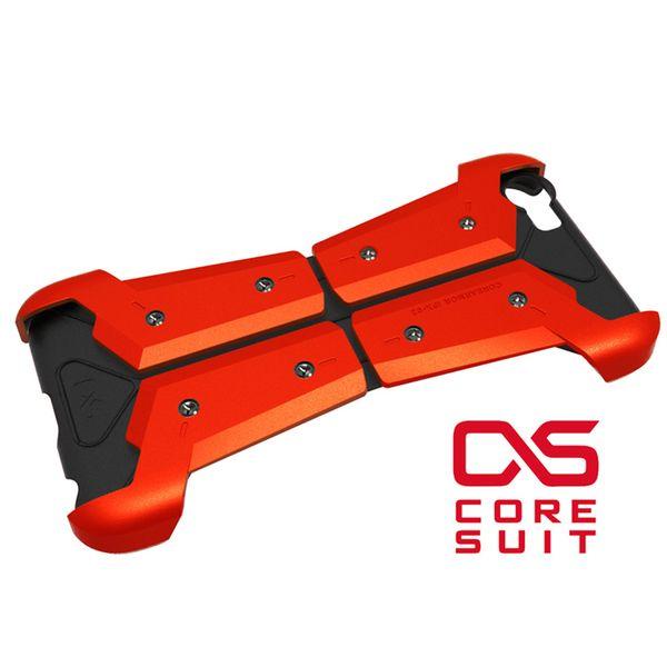 【CORESUIT】ARMOR 裝甲風格飾版+i6手機殼-橘紅 ( ARMOR- ORANGE)