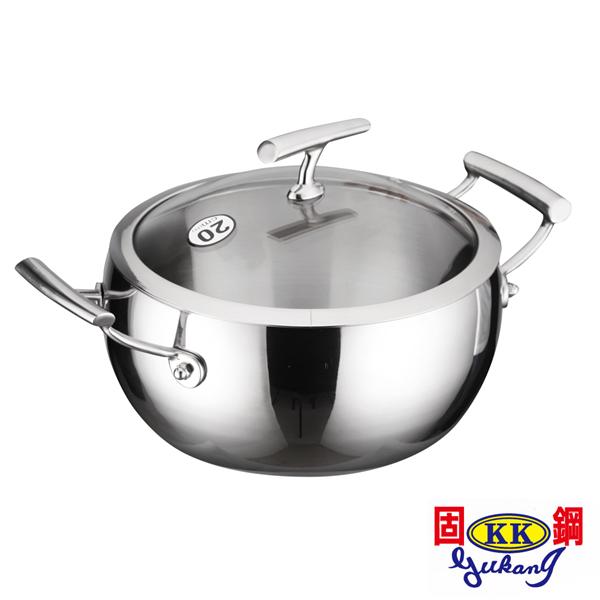 【固鋼】316食品級不鏽鋼南瓜湯鍋20cm (BAS-C20ZZ-316)