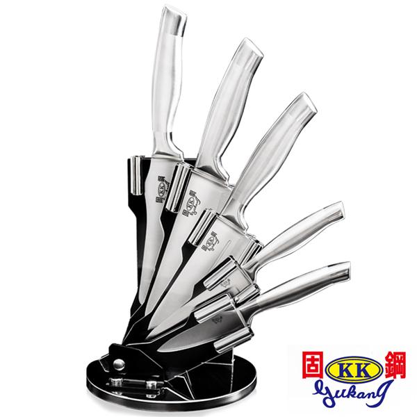 【固鋼】一體成型醫療級高級全不鏽鋼刀具組(5刀1座6件組) (BBA-SS-001)