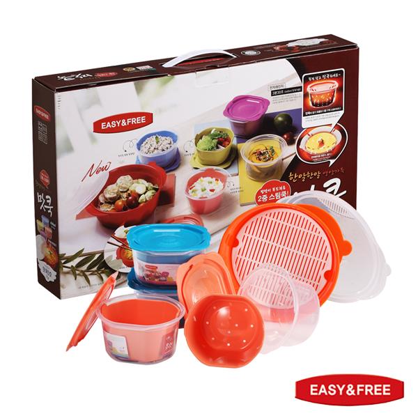 【EASY&FREE】韓國原裝進口保鮮盒–泡菜系列5盒15件組 (BBC-713)