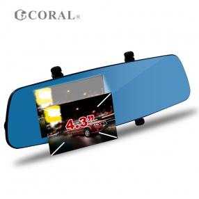 CORAL-T3i-4.3 GPS後視鏡雙鏡頭行車紀錄器 (CORAL-T3I)
