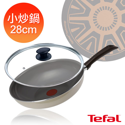 【法國特福Tefal】陶瓷系列28cm小炒鍋(加蓋) (D4211982_FP8301)