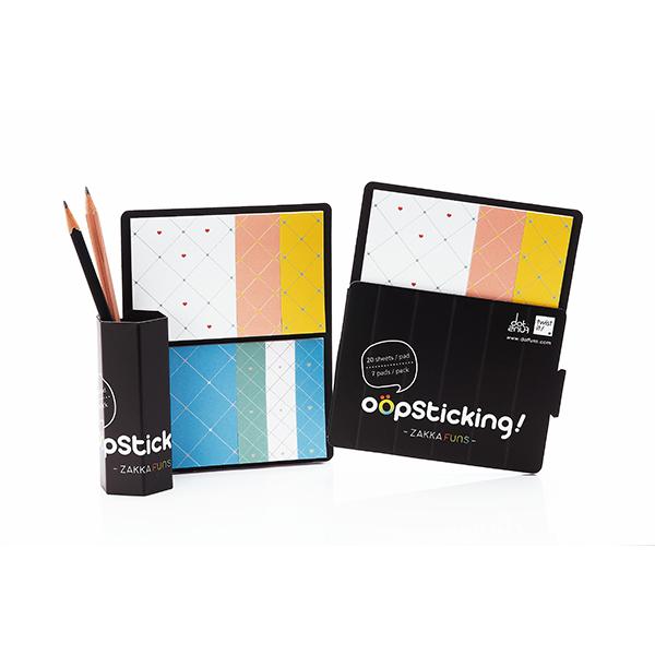 【設計點】Dotfuns-oopsticking日雜系便利貼-菱格紋版 (E01000206)