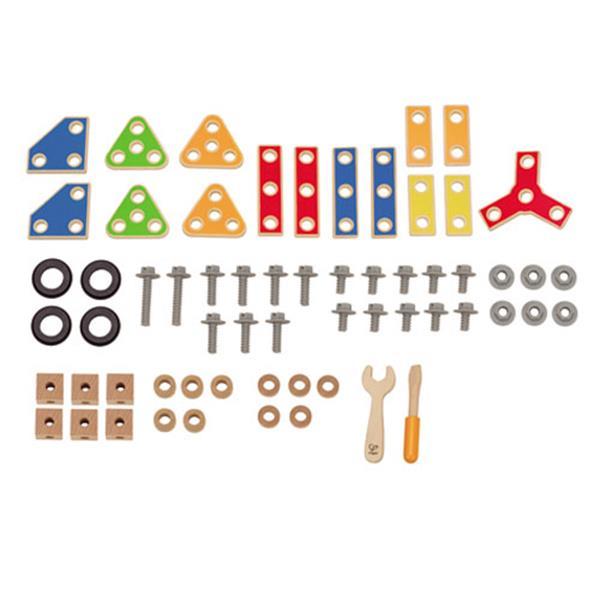 【德國Hape愛傑卡】 Hape組裝建構系列 工匠組(62PCs)(E3081A)
