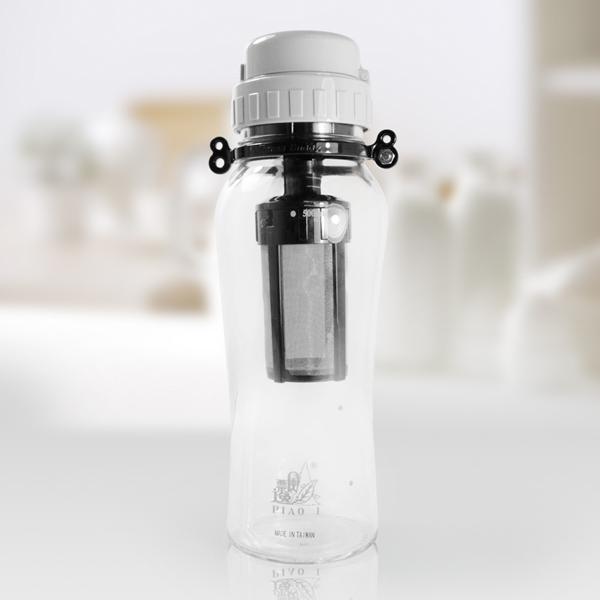 【那魯灣】行動拍檔沖泡過濾玻璃隨身杯(500ml)1組 (GL603990)