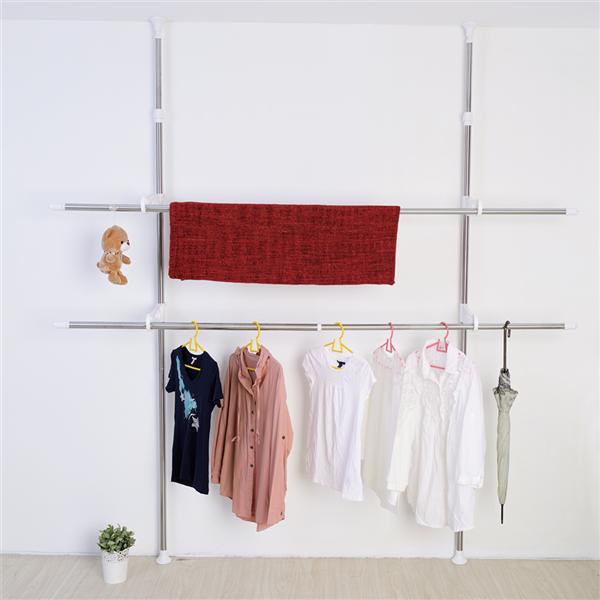 【ikloo宜酷屋】頂天立地可調式不鏽鋼曬衣架 (HGF24)