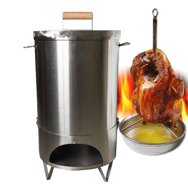 【304嚴選】特厚不鏽鋼桶仔雞烤桶(22公升/內容量) (HGT105480)
