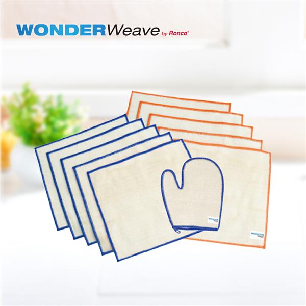萬達康 美國Wonder Weave天然抗菌竹纖維萬用巾(10條+手套) (INF1074-TEN)
